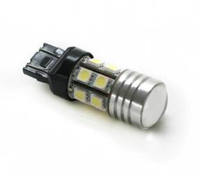 Car LED bulb T20 W21 / 5W + 5W CREE SMD 12 5050