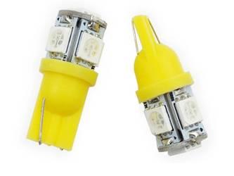 Car LED bulb W5W T10 5 SMD 5050 ORANGE