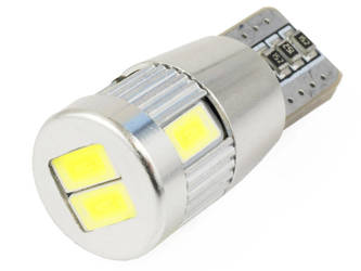 Car LED bulb W5W T10 6 SMD 5630 SUPER CAN BUS without lens