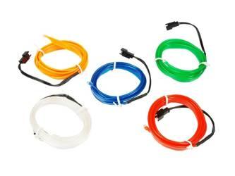 Fiber Ambient Light El Wire   2 meters