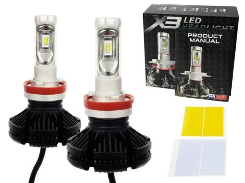 A set of LED bulbs H9 H11 X3 ZES 50W 12000 lm