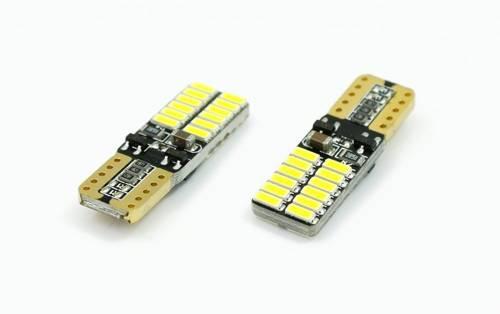 Bulb LED Car T10 W5W 24 SMD 3014 Bilateral CAN BUS