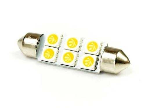 WW LED Bulb C5W Car 6 SMD 5050 White Heat