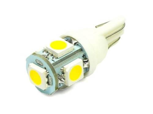 WW LED Bulb Car W5W T10 5 SMD 5050 White Heat