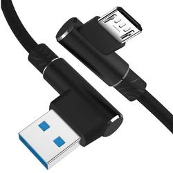 AM30 | Micro-USB-1M | Abgewinkelte USB-Kabel Ihr Telefon aufzuladen | Quick Charge 3.0 2.4A