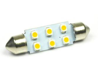 Auto LED-Birne C5W 6 SMD 1210 Warmweiß