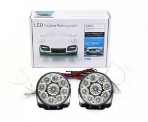 DRL 04 PREMIUM   Leuchtet HIGH POWER LED Tagfahrlicht   rund 70 mm