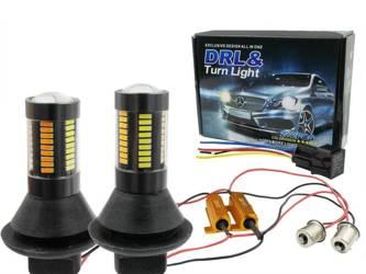 DRL mit 2in1-Anzeige | Birnen 66 SMD 4014 | Lichter LED-Tag | automatische Modul