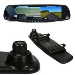 """Rejestrator jazdy PZ702-1-DVR w lusterku wstecznym 4,3"""" TFT LCD do kamery cofania 12V"""