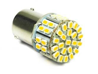 WW LED Glühbirne Auto BA15S 50 SMD 1206 warmes Weiß