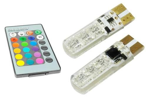 Blister W5W T10 LED RGB Controller mit Farbwechsel