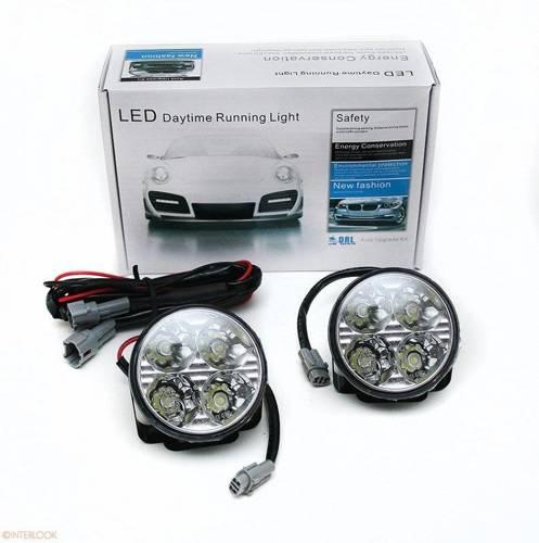 DRL 05 PREMIUM   Leuchtet HIGH POWER LED Tagfahrlicht   rund 70 mm