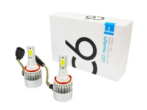 Eine Reihe von LED-Lampen H9 H11 C6 Bridgelux COB ™ 7600 lm