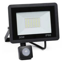BLS-30W | Naświetlacz LED 30W z czujnikiem ruchu i zmierzchu | 3800 lm | 220V