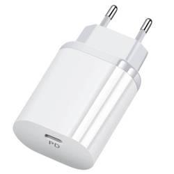 PD-70-White | Ładowarka sieciowa 18W | USB-C Power Delivery 3.0