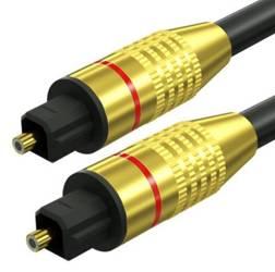 TS07-3-3M-Black   Przewód optyczny Toslink   GOLD - pozłacane złącza   HQ