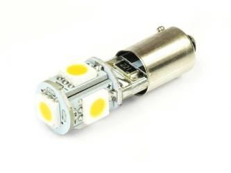 WW Żarówka samochodowa LED BA9S 5 SMD 5050 CAN BUS Biała ciepła