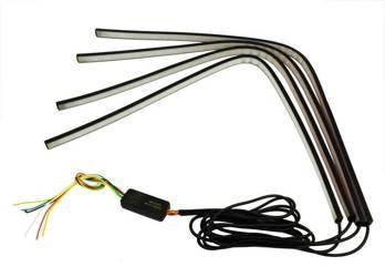 ZW01-4*60cm | Zestaw 4 pasków LED RGB - funkcje stop/postój/kierunkowskaz
