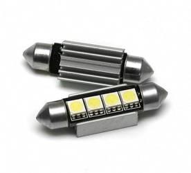 Żarówka samochodowa LED C5W 4 SMD 5050 CAN BUS