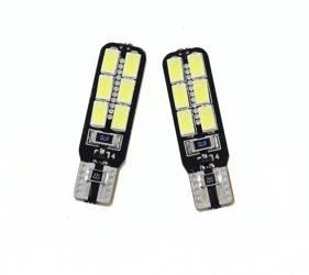 Żarówka samochodowa LED W5W T10 12 SMD 5630 CAN BUS DWUSTRONNA