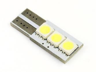 Żarówka samochodowa LED W5W T10 3 SMD 5050 CAN BUS jednostronna