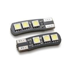 Żarówka samochodowa LED W5W T10 6 SMD 5050 CAN BUS dwustronna