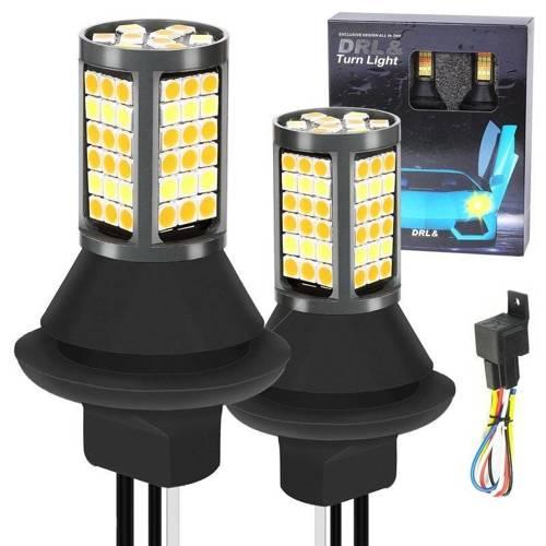 2w1   PY21W 81 SMD 3030   Światła LED do jazdy dziennej   AUTOMAT