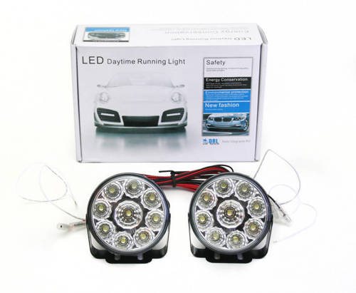 DRL 04 PREMIUM | Światła HIGH POWER LED do jazdy dziennej | okrągłe ø 70 mm