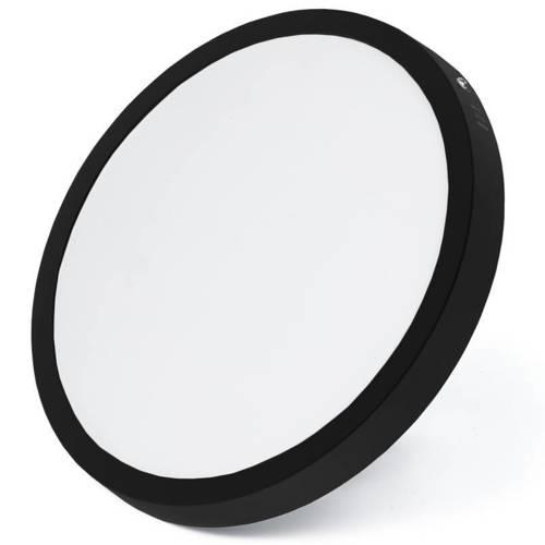 SY-SR124-B   Czarny, okrągły plafon LED 24W   Niemrugający CCD panel natynkowy