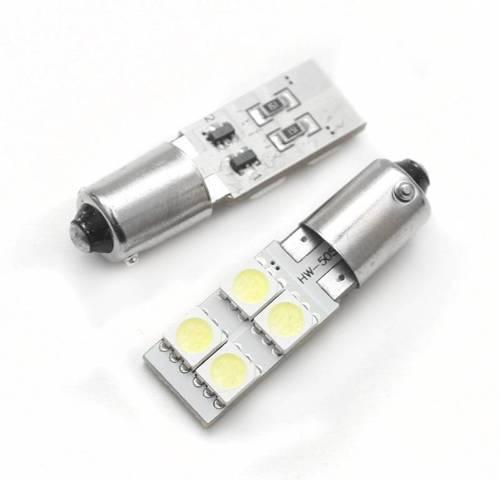 Żarówka samochodowa LED BA9S 4 SMD 5050 CAN BUS
