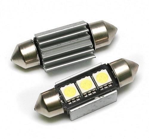 Żarówka samochodowa LED C5W 3 SMD 5050 CAN BUS