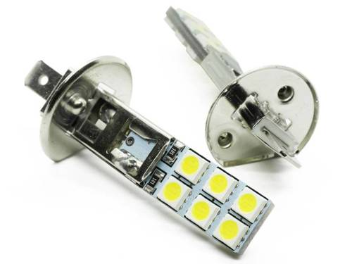 Żarówka samochodowa LED H1 12 SMD 5050
