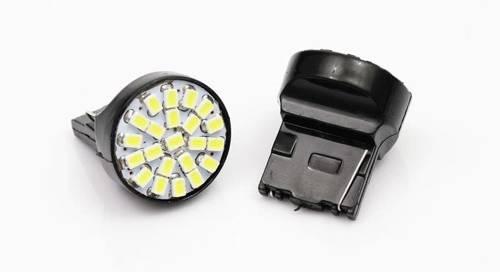 Żarówka samochodowa LED T20 W21W WY21W 22 SMD 1206 FRONT