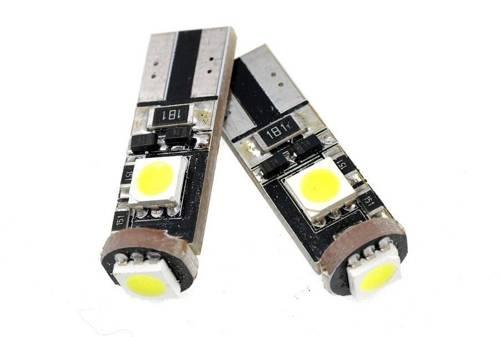 Żarówka samochodowa LED W5W T10 3 SMD 5050 CAN BUS