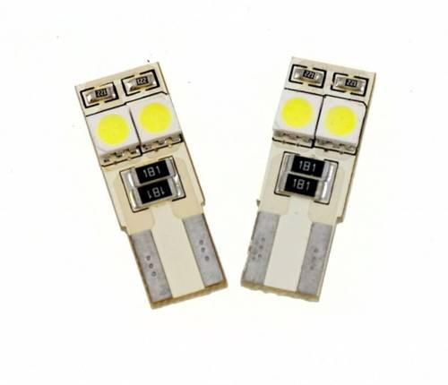Żarówka samochodowa LED W5W T10 4 SMD 5050 CAN BUS DWUSTRONNA