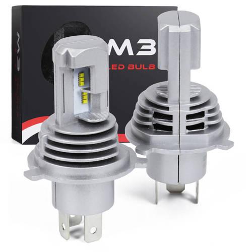 Zestaw żarówek H4 LED ZES M3 | Światła mijania / drogowe / 5166 TrueLM