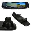 """Rejestrator jazdy  w lusterku wstecznym 4,3"""" TFT LCD do kamery cofania 12V PZ702-1-DVR"""